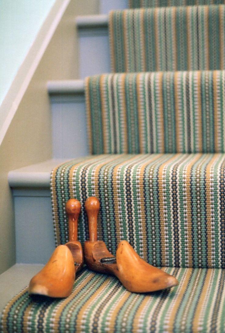 Tim Page Carpets Stripe Flatweave Stair Runner Senators