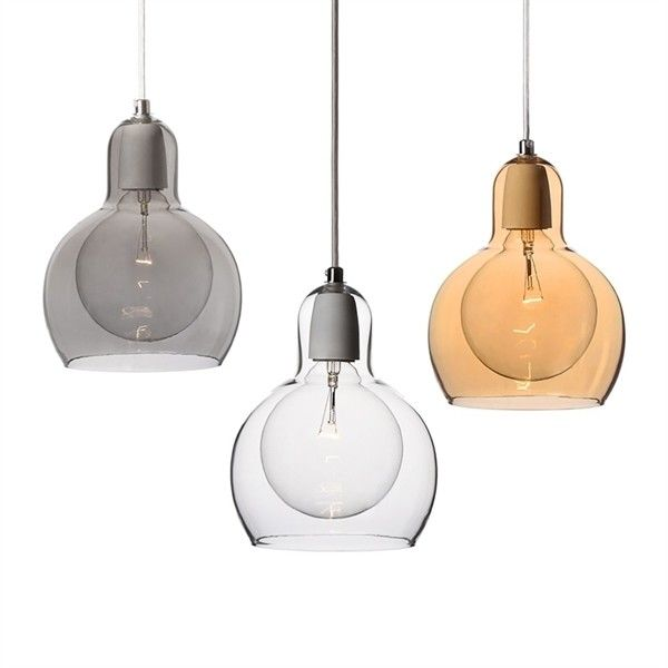 Mouth-Blown Glass Modern Minimalist Pendant Light with 1 Light ($62) ❤ liked on Polyvore featuring home, lighting, ceiling lights, decor, lights, array0x12be3408, glass pendant light, hand blown glass pendant light, glass hanging lights and glass lighting