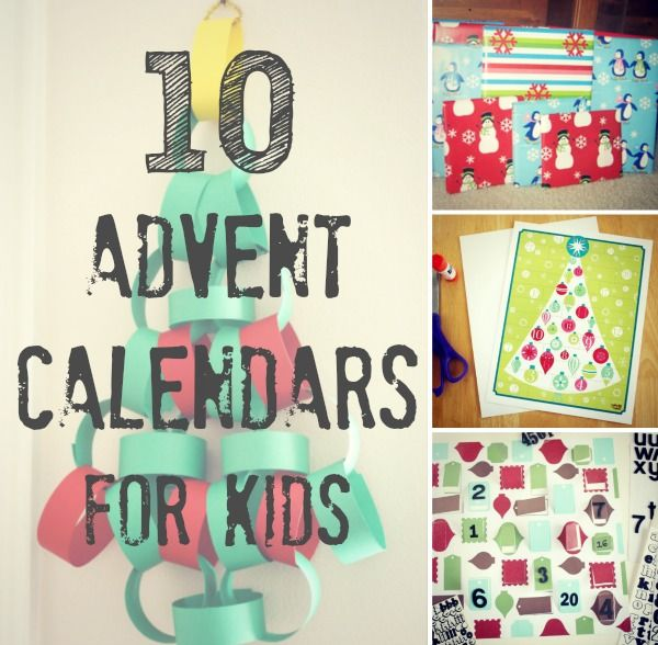 10 Advent Calendars for Kids makeandtakes.com I've gathered 10 fabulous ways to get the kids involved in counting down the days to Christmas. Have fun crafting these advent calendars!