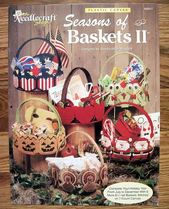 Seasons of Baskets II for Plastic canvas Pattern Book The