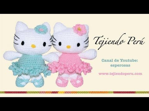 ▶ Hello Kitty tejida a crochet (amigurumi) Parte 1: cabeza - YouTube