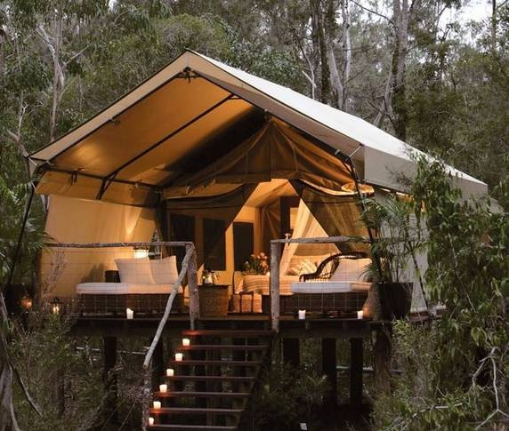 Tent house in the woods, I will have one of these.