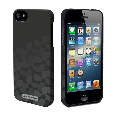 Marware MicroShell Case Onyx Flowerbed + Screen Protector (iPhone 5/5s) - myThiki.gr - Θήκες Κινητών-Αξεσουάρ για Smartphones και Tablets - Marware MicroShell Case Onyx FlowerBed