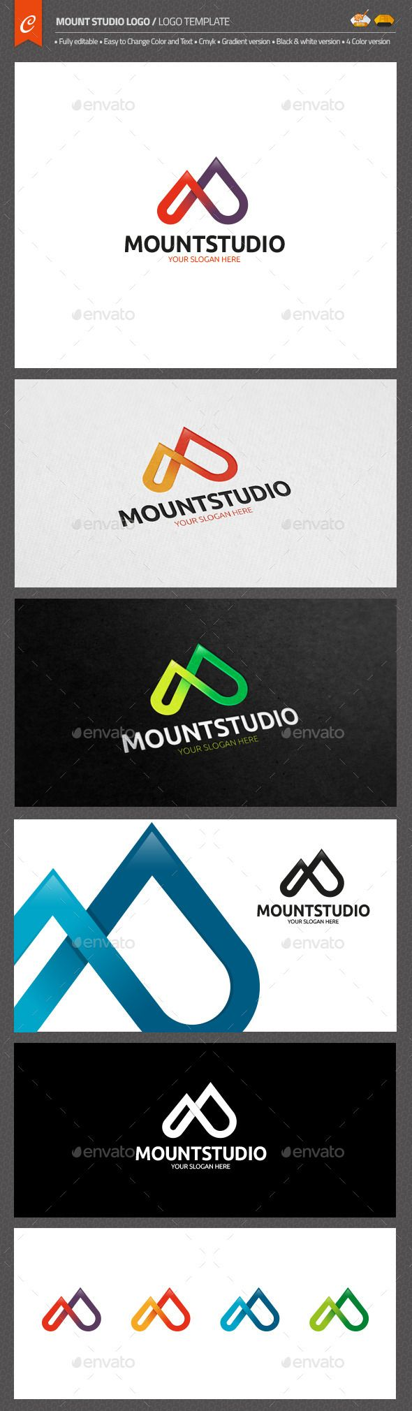 Mount Studio Logo — AI Illustrator #healthy #mountain • Available here → https://graphicriver.net/item/mount-studio-logo/10737023?ref=pxcr