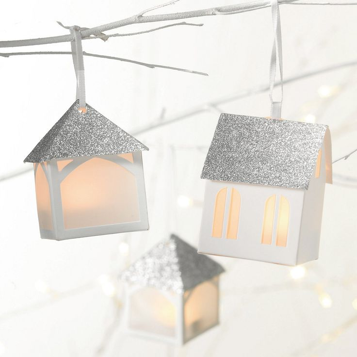 Hanging Paper House - Set of 3| The White Company