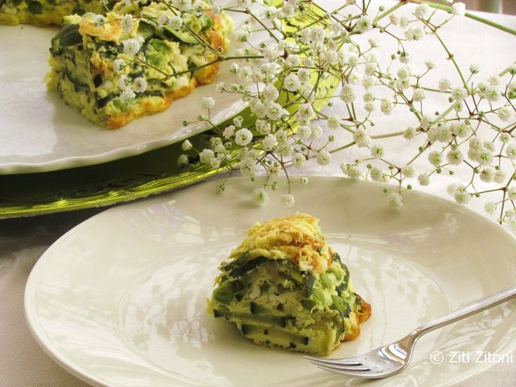Courgette frittata-taart