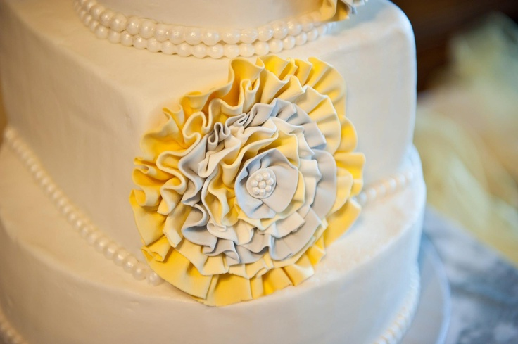 My Wedding Cake Yellow And Gray Cakery Pinterest