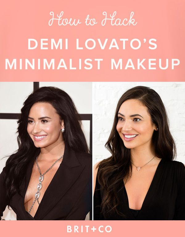 Get Demi Lovato's Grammys look with this minimalist makeup tutorial.