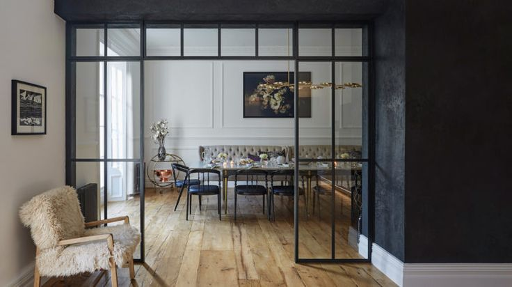 love this internal glass wall next to the black. See it against a white wall on the blog today.