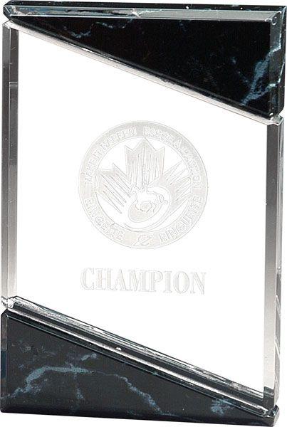 Clear & Marble Block Acrylic Award