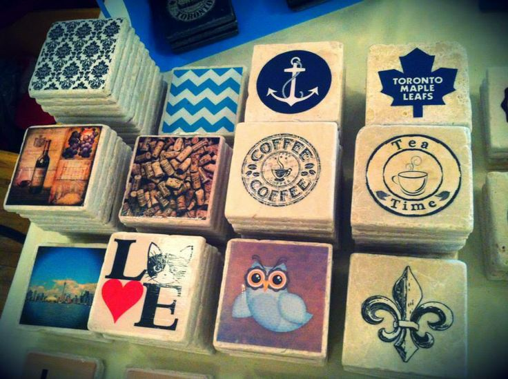 Coasters upon Coasters created by 5 Creations Handmade Decor in Toronto
