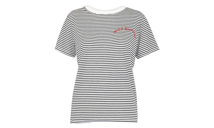 Merci Beaucoup Stripe TShirt, Multicolour   WHISTLES