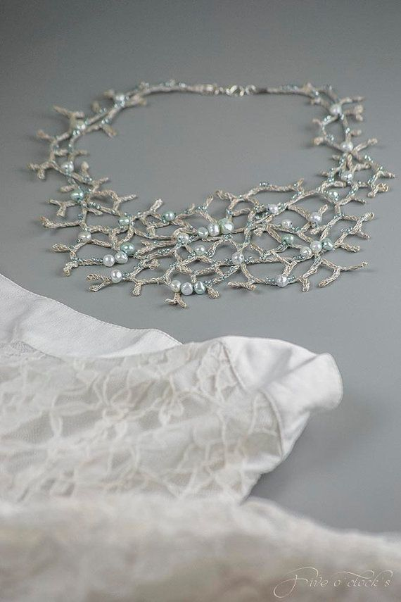 Baroque jewelry with freshwater pearls. Wedding by FiveOClocks