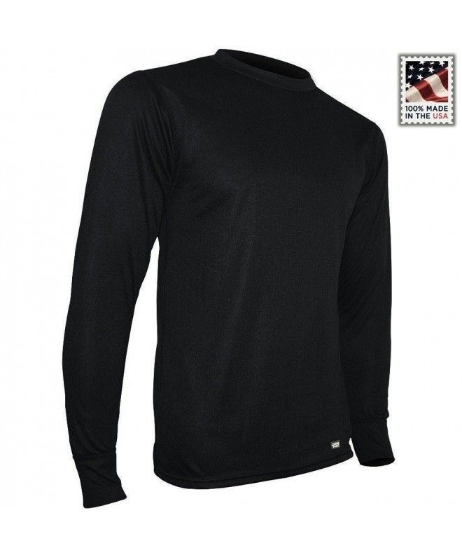 Men's Double Base Layer Long Sleeve Crew Tee - CK115B01ZV9   Sleeves, Mens  activewear, Mens outfits
