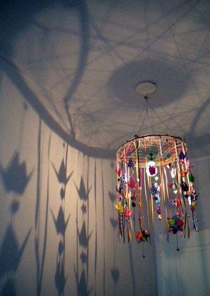 Handmade chandelier.                         Gloucestershire Resource Centre http://www.grcltd.org/scrapstore/