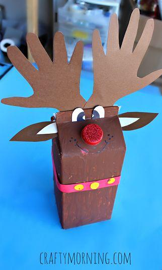Milk Carton Reindeer Christmas Craft for Kids - Crafty Morning