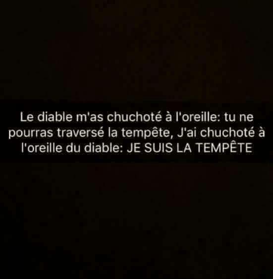 """""""Le diable m'a chuchoté..."""""""