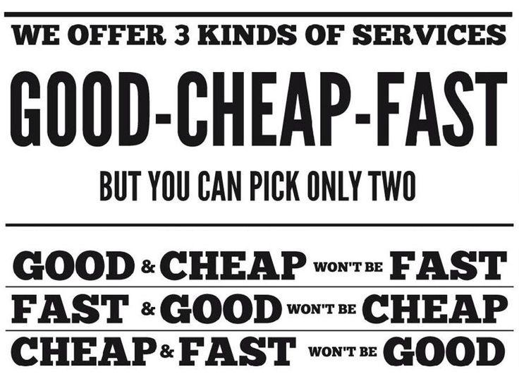 good cheap fast - Google Search