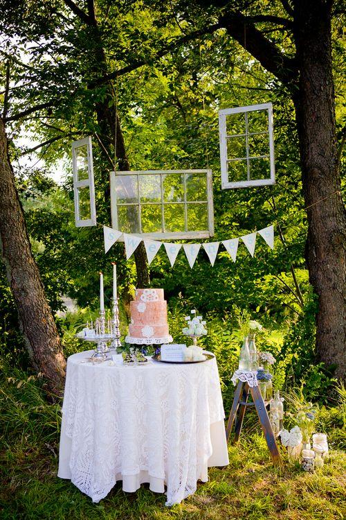 Definitely having an outdoor wedding.
