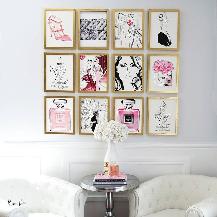 Find Photos On Line Print Them In Color And Use Thrift Store Frames To Create This Glammed Up Wall We Heart It