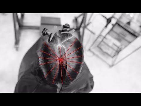 стрижка слоями на волосы средней длины - YouTube