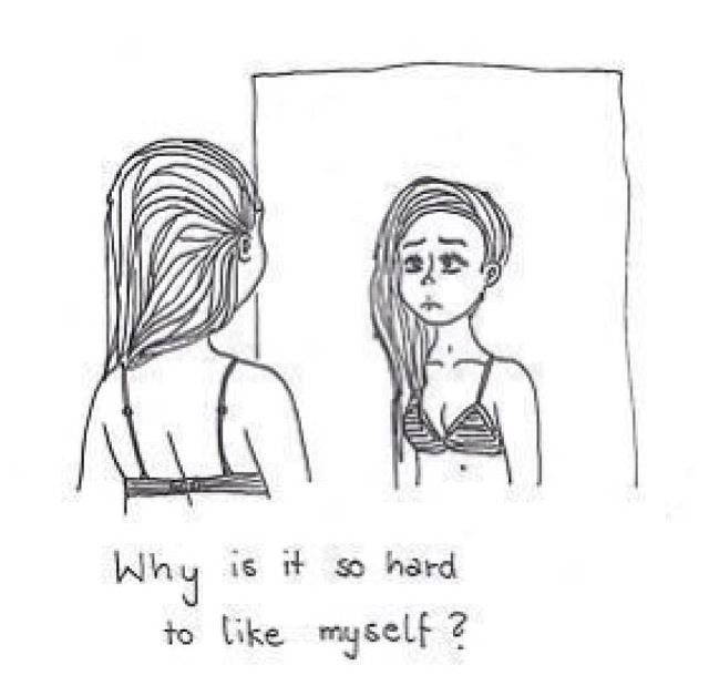 Sad Quotes About Depression Drawings: Because Of My Everything. My Thoughts, My Appearance, My