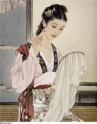 Zhao Guojing (1950, Jingxian, Hebei Province) ~ After his graduation in 1976, he was employed by the Tianjin Fine Arts Publishing House. Zhao specializes in figurative painting and comic strips. A number of his works has been included in national collections ~ Wang Meifang (王美芳) is a Chinese artist, born in Beijing in 1949 , heir of the academic teaching of painting imperial court: she paints with Zhao Guojing according to the canons of this secular tradition.