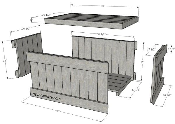 the easiest and quickest way to build your chest is to purchase cedar decking and pre buy pallet furniture design plans