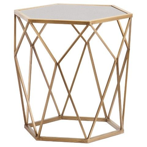Southern Enterprises  Accent Table - Soft Gold