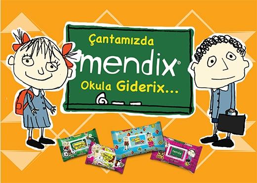 #mendix Islak Cep Mendilleri-Okul