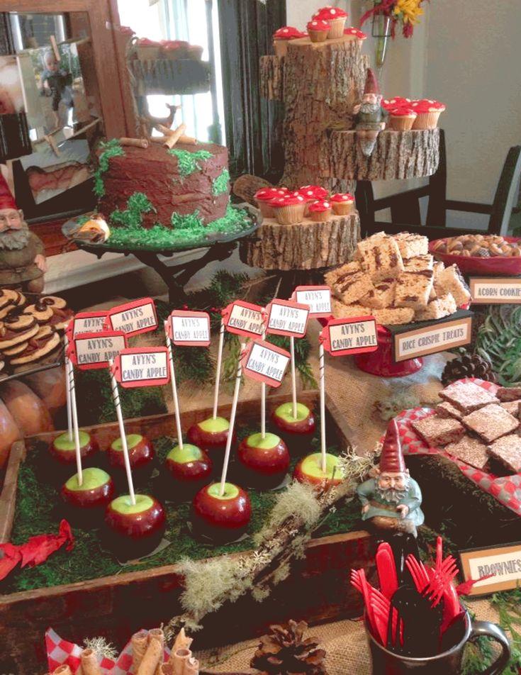 Versier je Feest: Avyn's bosfeestje - eerste verjaardag woodland party desserttable birthday