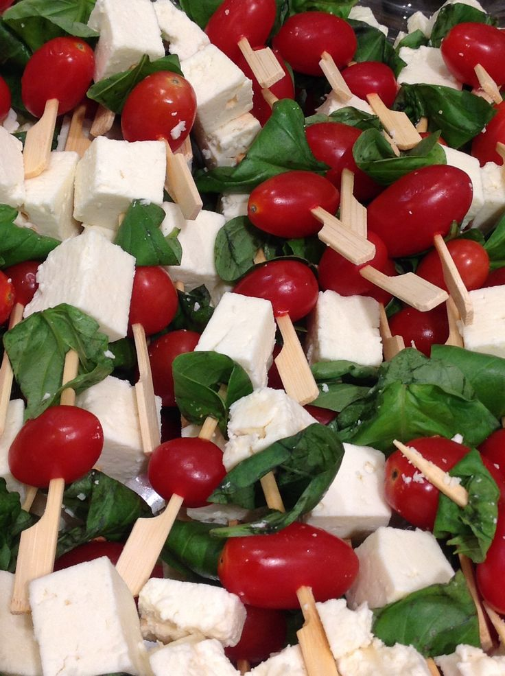 Caprese skewers at the #NicciWinter14 Launch