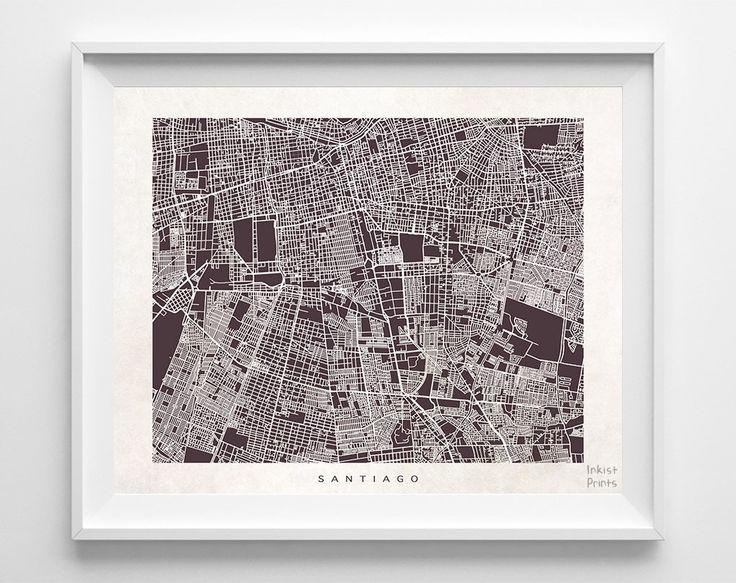 Santiago Street Map Print