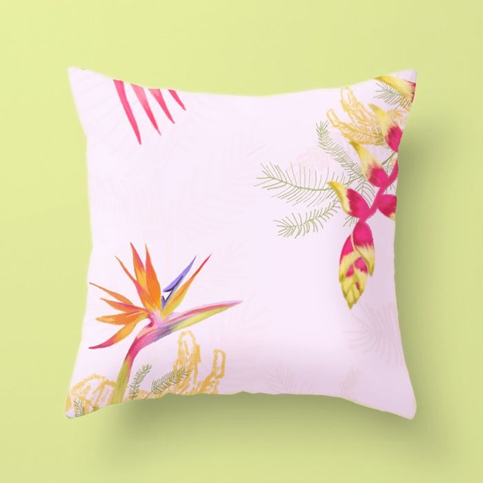 Tropical Flower Pillow - Natalia CA.