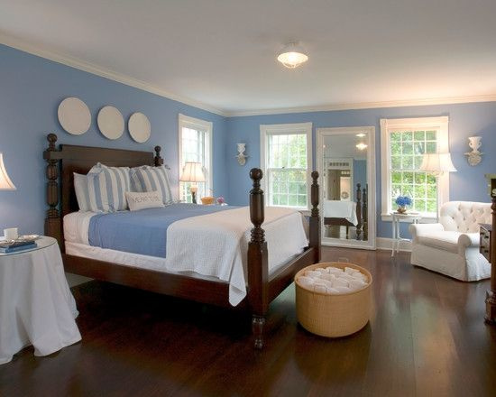 Beautiful and calming blue bedroom decorating ideas calm conservative blue bedroom decorating - Calming bedroom designs ...