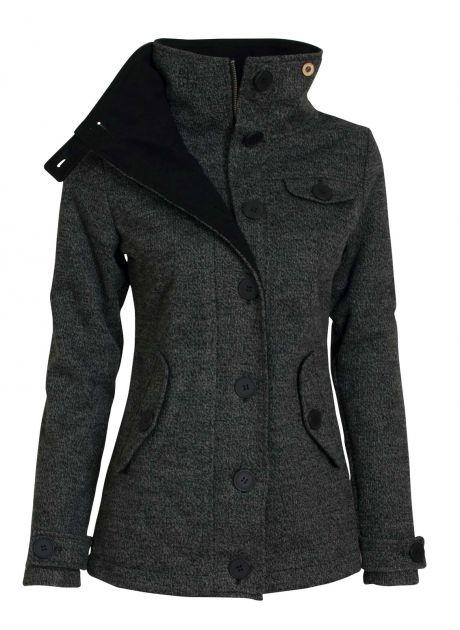 Woolshell Ladies´ Jacket Dark - Je wool shell z vola? Spíš ne. Ať už je z čeho chce, ušetří vás mnoha woolgarit, když zapomenete deštník. Nepromokne, neprofuní. Navíc fest sluší, takže vám bude každý po wooli. Šedý či rezatý, dlouhý nebo krátký. Ten kabát myslíme.