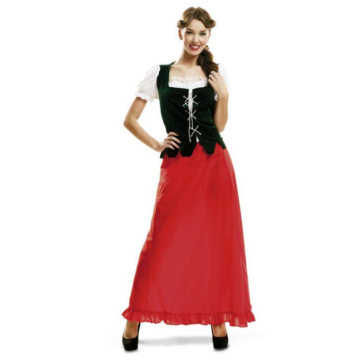 Déguisement Paysanne Médiévale Rouge #déguisementsadultes #costumespouradultes