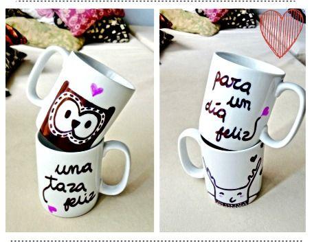Tazas decoradas cerca amb google favorites pinterest d - Decorar tazas con rotulador permanente ...