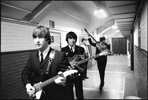 1965 - John Lennon, George Harrison and Paul McCartney.