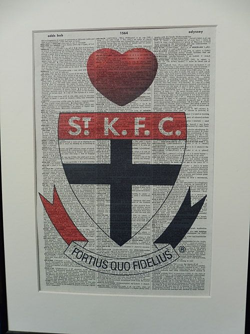 St Kilda AFL Football Team Wall Art Print by DecorisDesigns