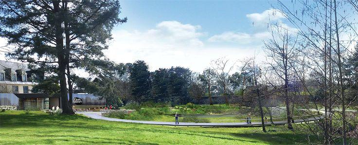 Nouvelle conception  du jardin des arbres médicinaux de l'abbaye de Daoulas et réaménagement des lieux publics par  le paysagiste A3 Paysage #Brest http://www.a3paysage.com