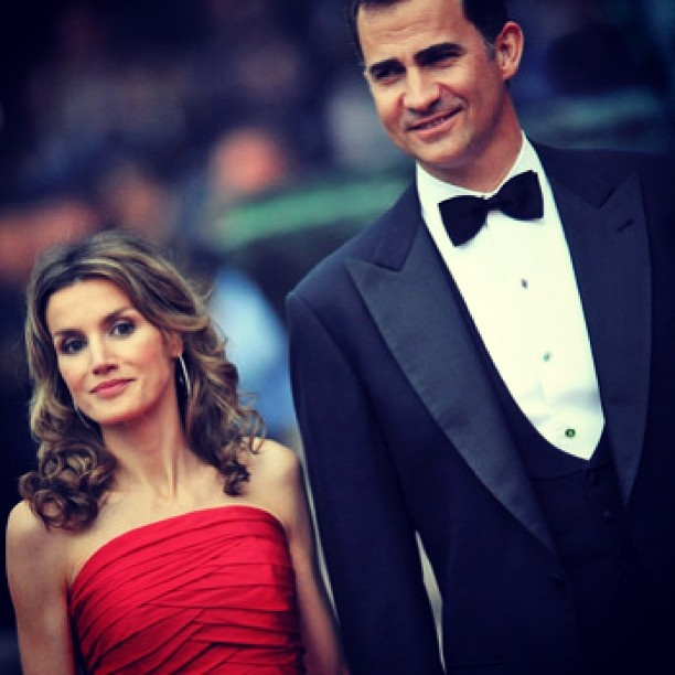 Beautiful Couple ❤ #future #king & #queen #futurequeen #futureking of #spain #princefelipe #princessletizia of #asturias #spanish #royalty #royals #true #love #amazing #pair  #love her #red #gown and I #like #Felipe without the #beard - @royalstars333- #webstagram