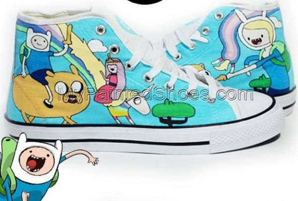 Adventure Time High Top Sneakers for Men and Women