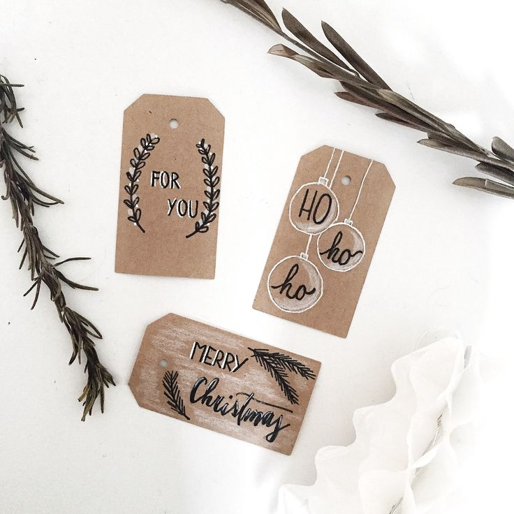 Handlettering, gift tags, fauxcalligraphy, diy, Christmas diy, lettering, tombow