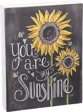 """"""" You Are My Sunshine """" Wood Box Sign Primitives By Kathy Home Decor Sunflower"""