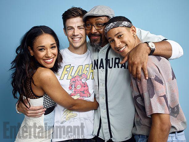 Comic-Con 2016 Star Portraits: Day 3 | Candice Patton, Grant Gustin, Jesse L. Martin, and Keiynan Lonsdale, 'The Flash' | EW.com