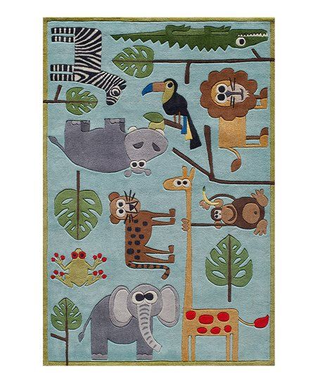 Blue Safari Rug Zulily