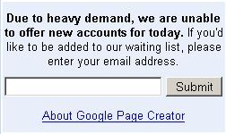 Sign Up For Google Page Creator: Google Page Creator Offer