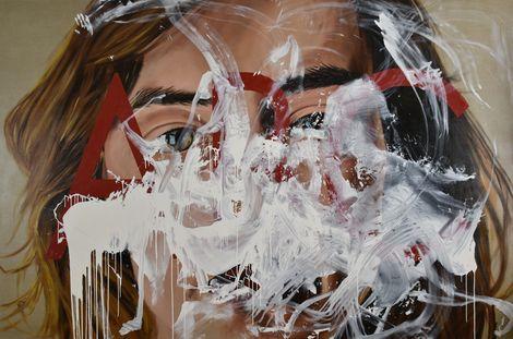 LAYRAL, 764 DESIRE BLANDINE Oil on Canvas (300x200(118'11x78'74(2015) on ArtStack #layral #art