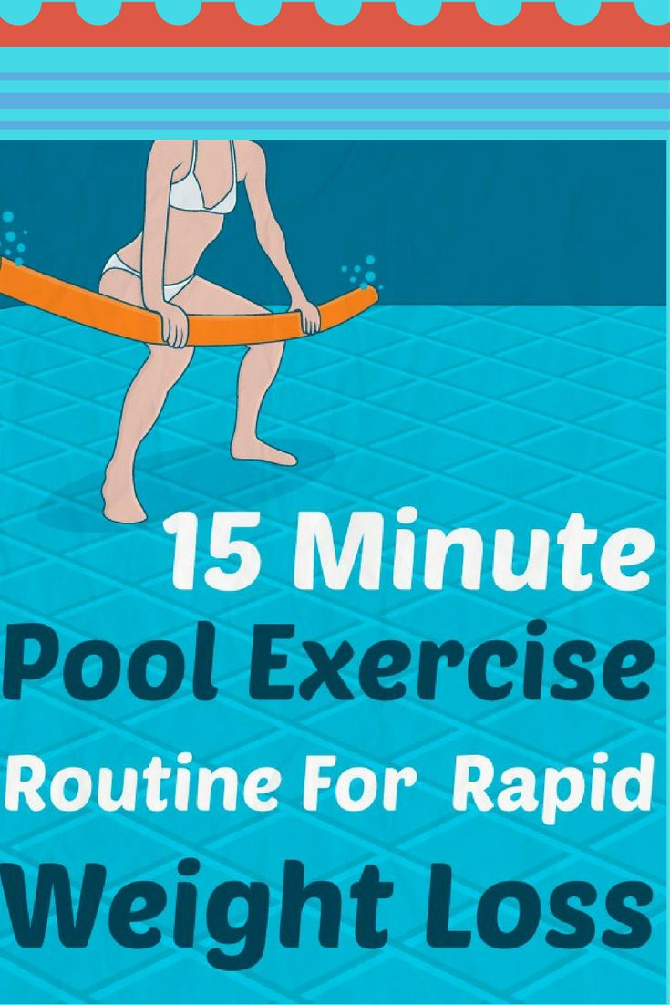 15 Minute Pool Exercise Routine For Rapid Weight Loss Weight Loss Pinterest Pool Exercises